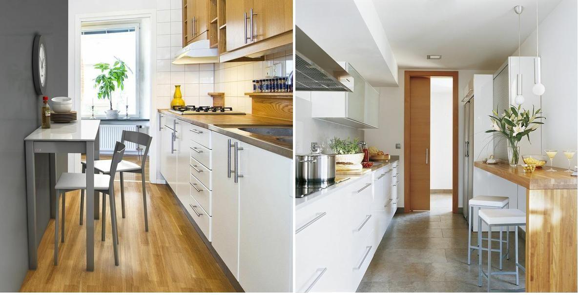 cmo decorar cocinas alargadas - Cocinas Alargadas