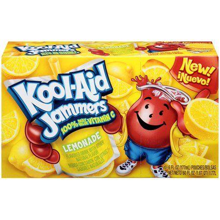 Kool Aid Jammers Flavored Drink Pouches Lemonade 10 Ct Pack Of 4 Walmart Com Flavored Drinks Kool Aid Lemonade
