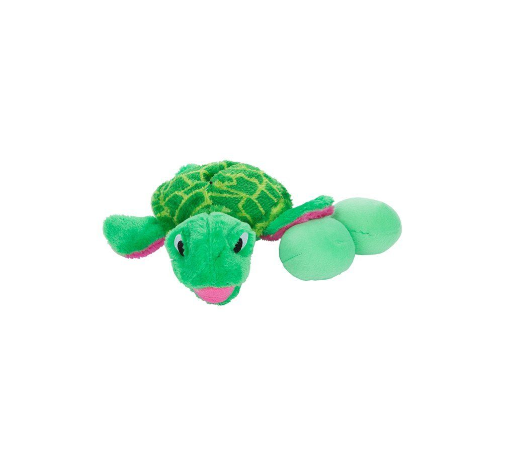 Outward Hound Kyjen Egg Babies Turtle Plush Dog Toys Squeak Toy