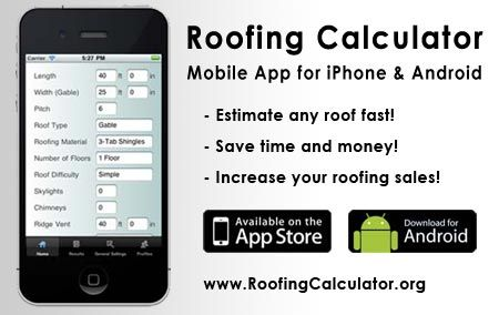 image of Roofing Estimating app for iPhone and Android Roof - roofing estimate