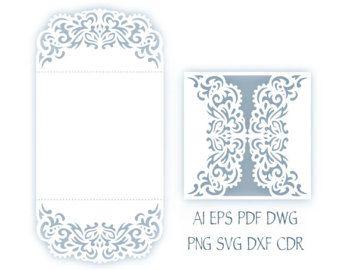 5x7 swirl gate fold wedding invitation card laser cut template 5 x 7 laser tarjeta de invitacin de boda por narisaridigitalart stopboris Image collections