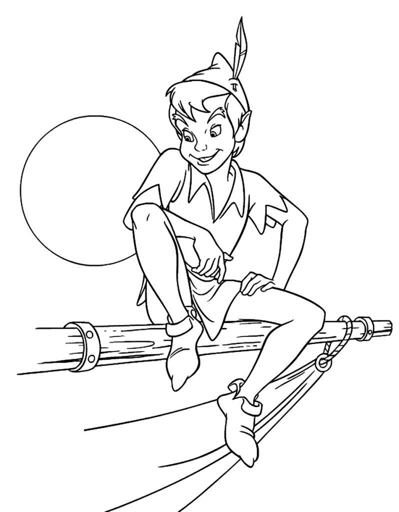 Free Printable Peter Pan Coloring Pages For Kids Disney Coloring Pages Tinkerbell Coloring Pages Peter Pan Coloring Pages [ jpg ]