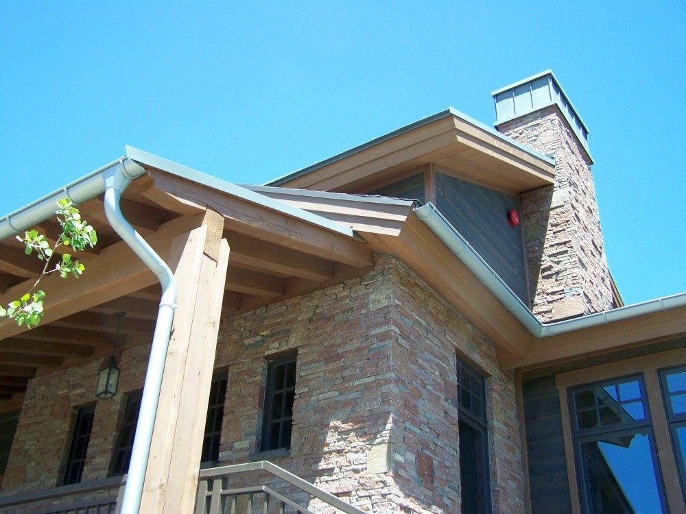 Zinc Roof With Zinc Gutter And Downspouts With Zinc Chimney Cap Zinc Roof Chimney Cap Standing Seam