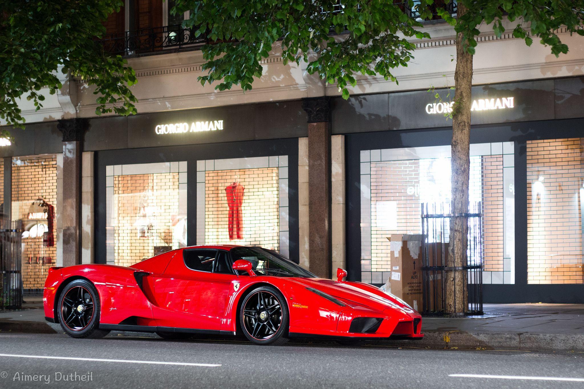 Parking His Enzo On Sloane Street Boss Ferrari La Ferrari Compact Cars