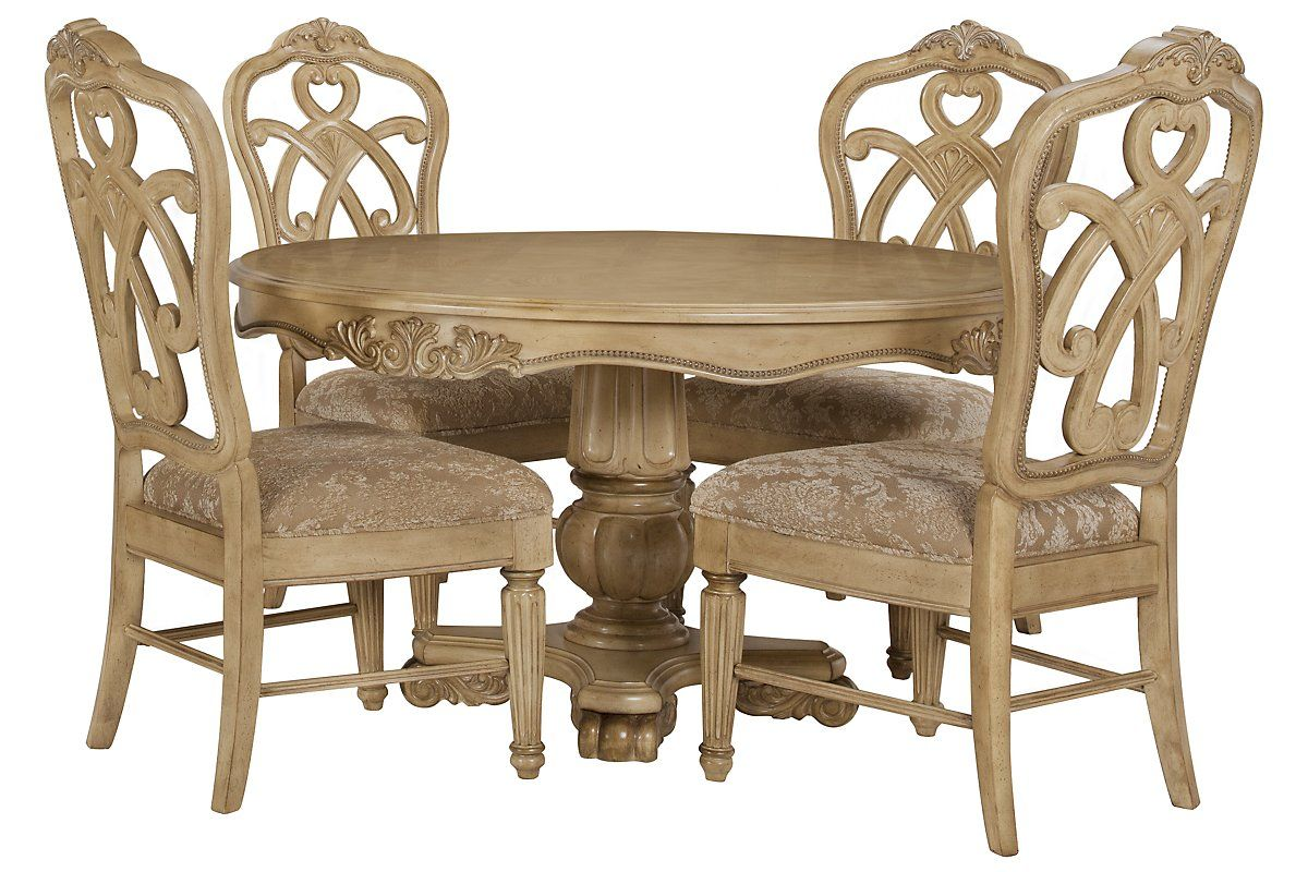 Enjoyable City Furniture Regal Light Tone Round Table 4 Wood Chairs Bralicious Painted Fabric Chair Ideas Braliciousco