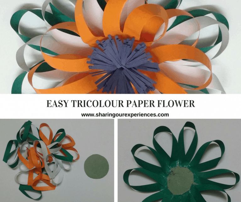 Easy Tricolour Paper Flower Paper Flowers Flower Crafts Crafts