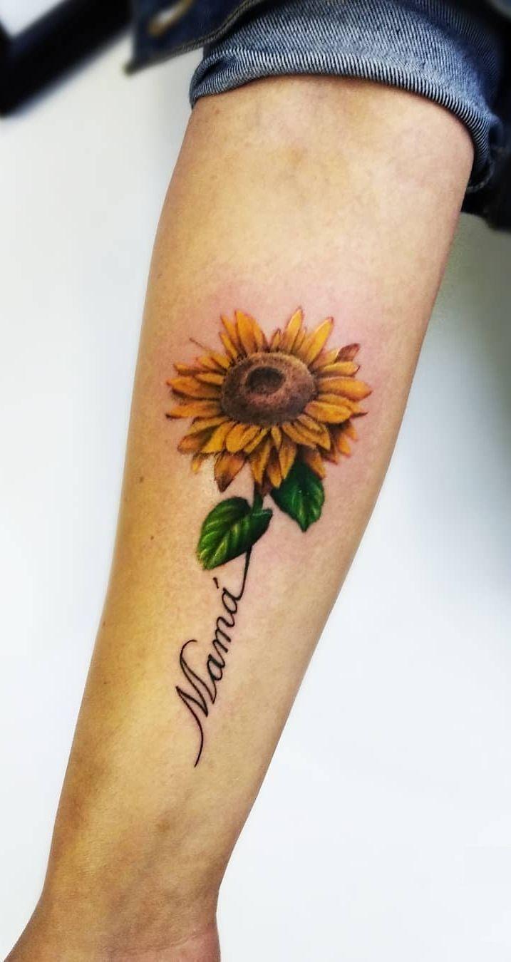 Photo of 32 most beautiful sunflower tattoo ideas just for you – tattoos design – #beaut …,  #beaut …