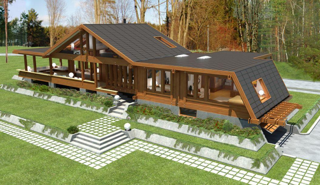Dise o de casa de madera de dos pisos planos y casas - Diseno de pisos ...