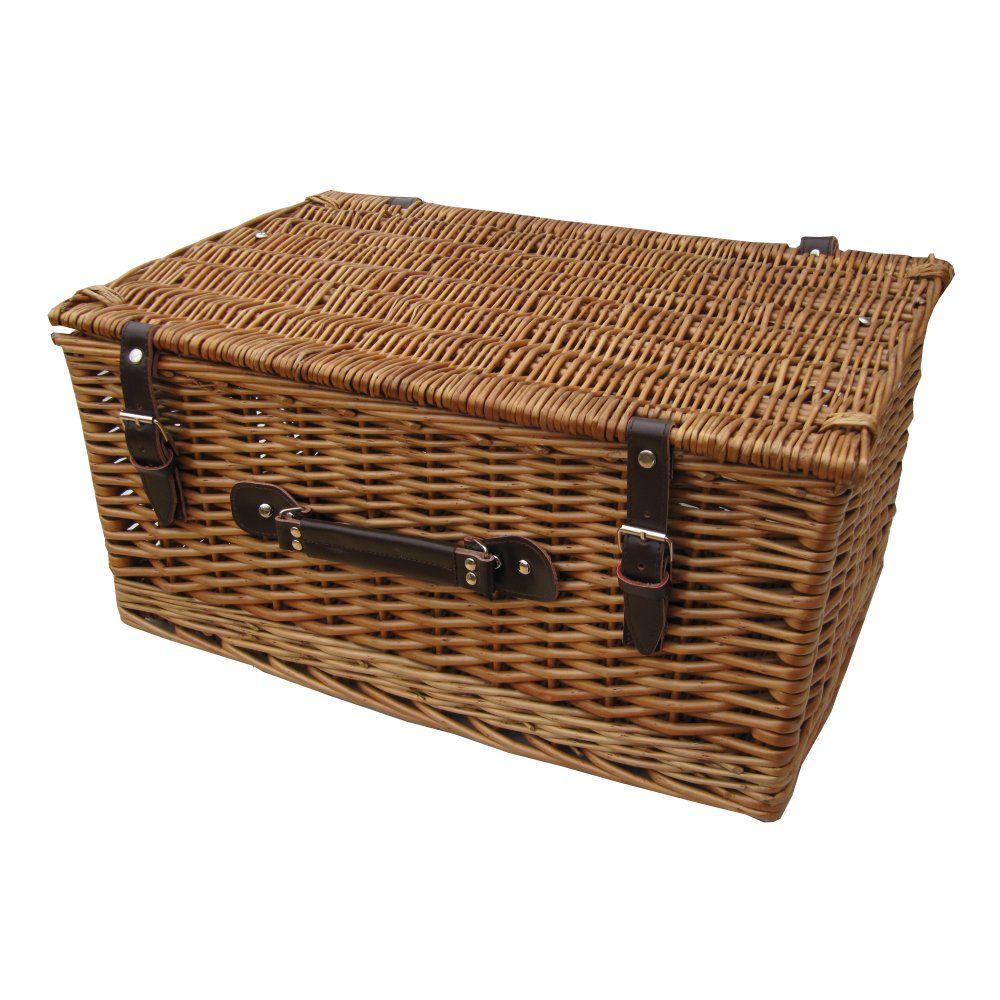 Wicker storage basket home storage baskets melbury rectangular wicker - Heritage Wicker Storage Trunk Hamper Basket