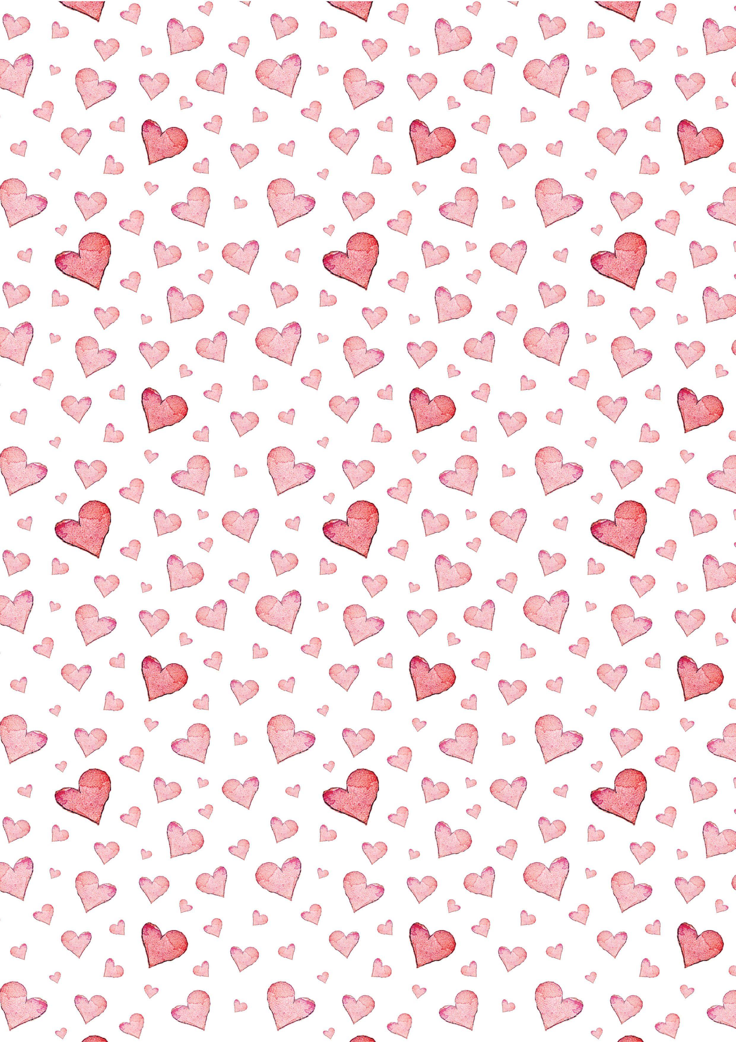 Картинка с сердечками на а4, поздравления 2017