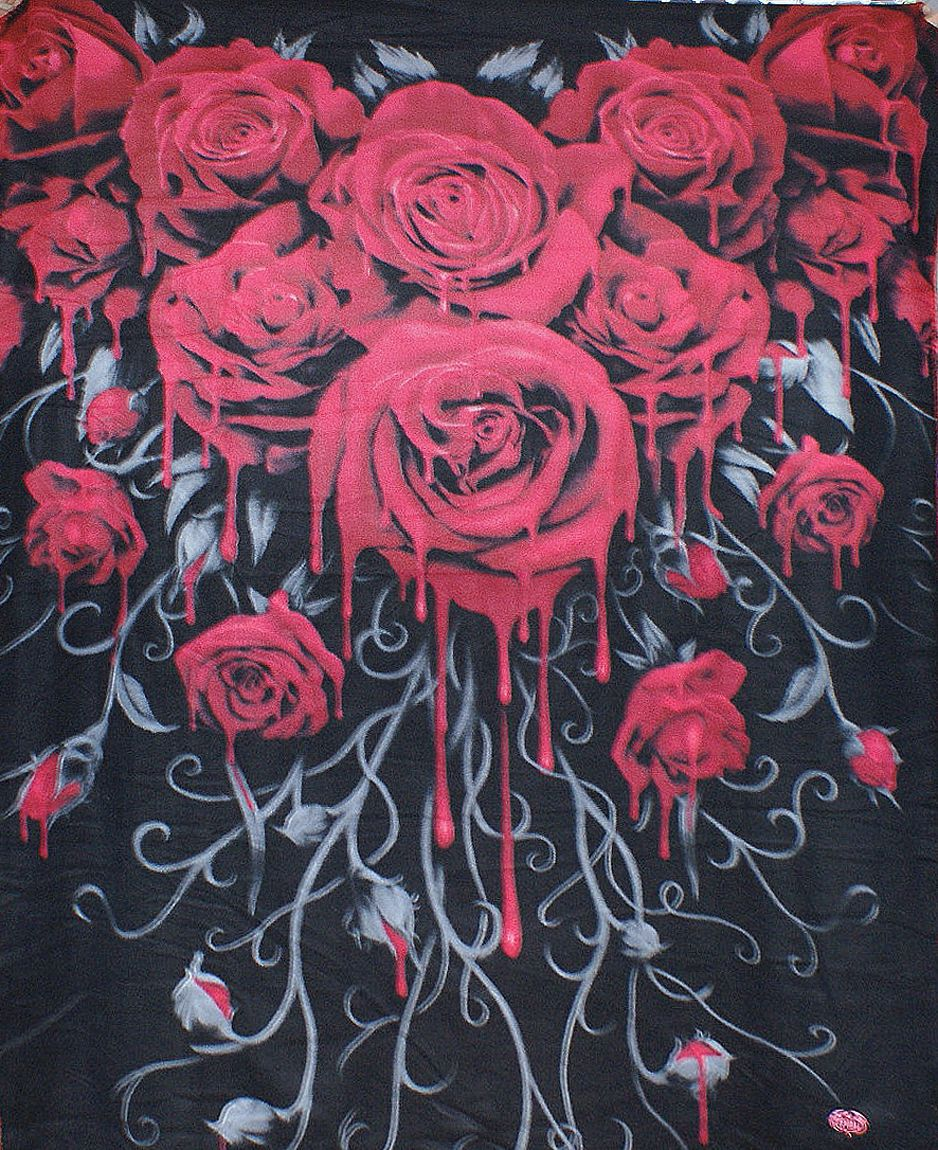 Cover Storage Case 150 x 200cm Spiral Direct BLOOD ROSE Fleece Blanket Throw