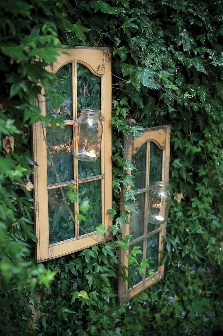 Alte Fenster zur Dekoration im Haus - 50 coole Ideen | Old windows ...