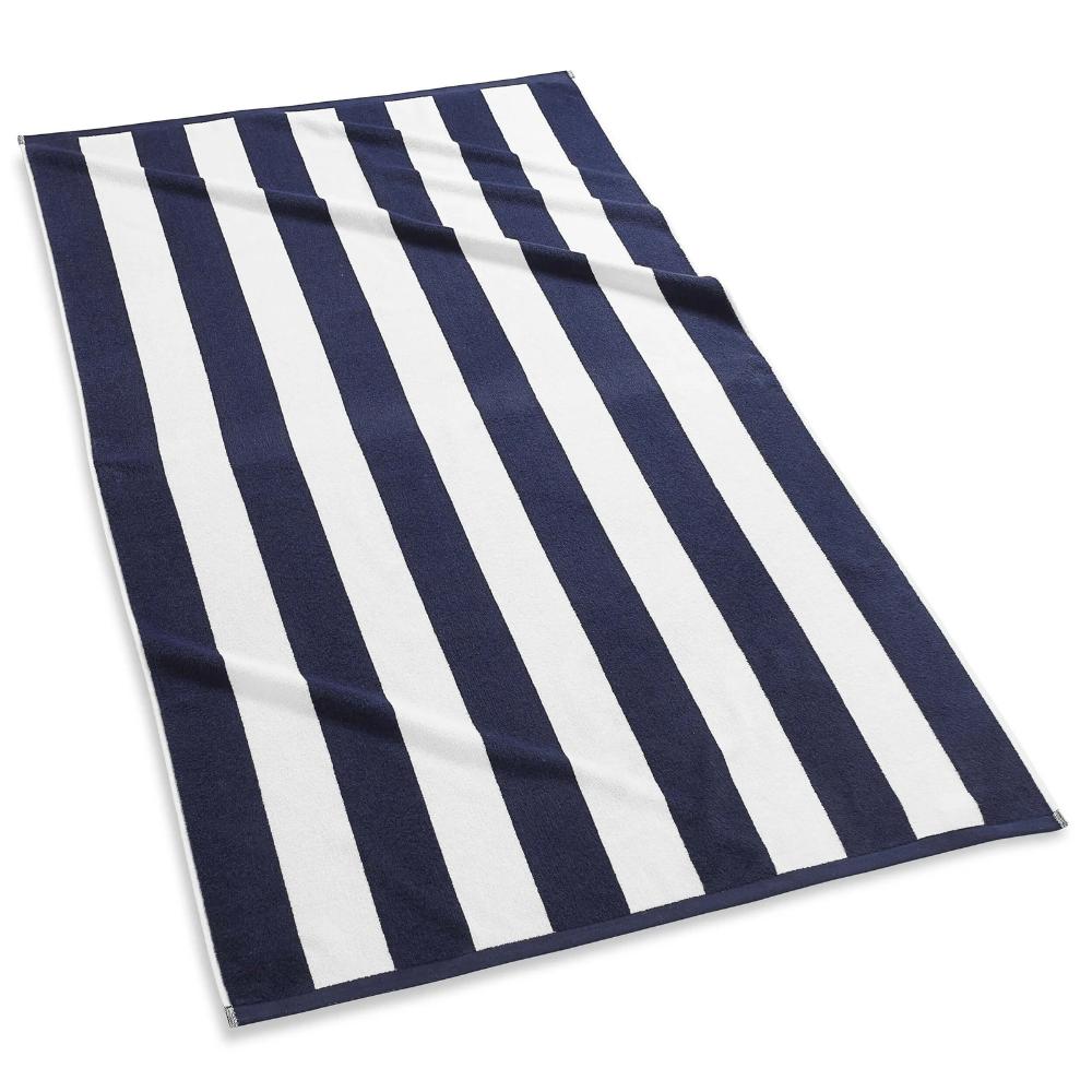 Cabana Stripe Beach Towels In 2021 Blue Beach Towels Striped Beach Towel Beach Towel