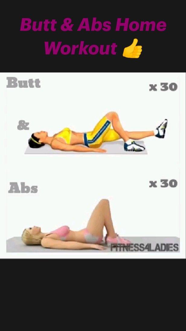 Butt & Abs Home Workout 👍
