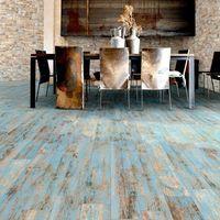 Carrelage Imitation Parquet Vieilli Mat Style Usine Rouge Jaune Bleu