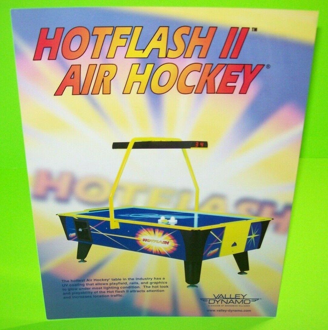 Hot Flash II Air Hockey FLYER Dynamo Original Arcade Table