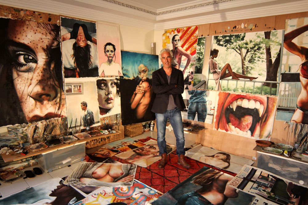 From The Studio of… French Painter Thomas Saliot-- I want to be surrounded by all my paintings in my own studiooooo ❤️