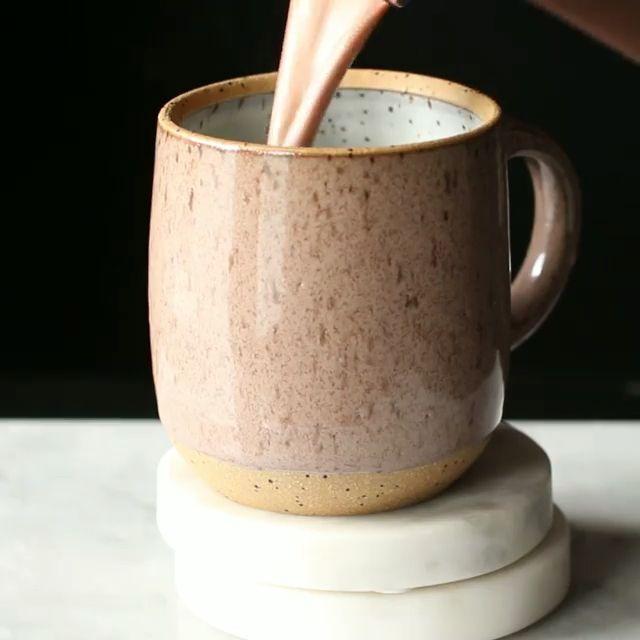 Best PB Hot Chocolate  #hotchocolaterecipe