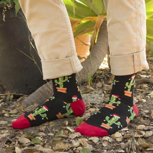 621917b9e5a Christmas Cactus Socks