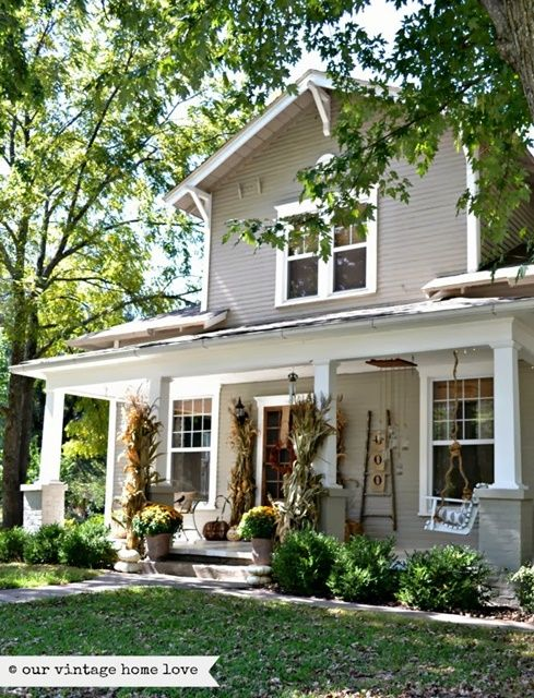 Charming Home Tour  Our Vintage Home Love Exterior Colors - Vintage country house