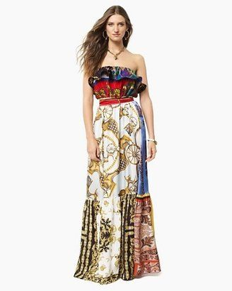 Vintage Scarf Maxi Dress