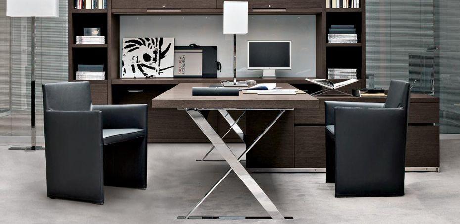 Houten Bureau Ac Executive Bij B B Designer Antonio Citterio