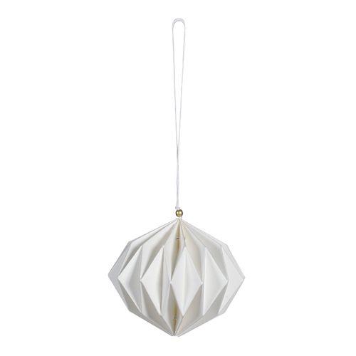 Décoration de noël origami papier blanc Jardin d\'Ulysse ...