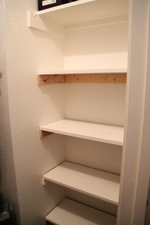 Easy Diy Shelves I Can Never Have Enough So Wanna Do This In My Kids Long Closets