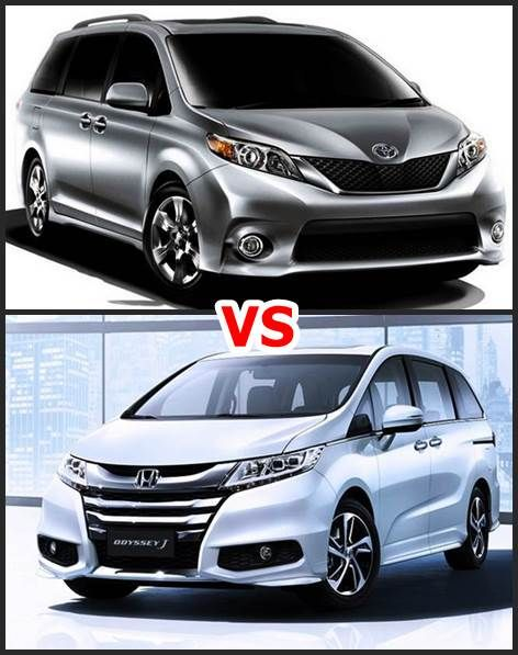 for fans 2017 toyota sienna vs 2016 honda odyssey toyota toyota honda honda odyssey. Black Bedroom Furniture Sets. Home Design Ideas