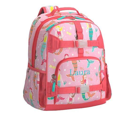 Mackenzie Pink Mermaid Backpack Pottery Barn Kids