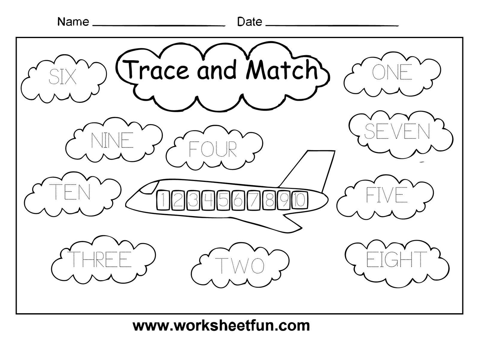 Worksheet 19801400 Numbers 110 Worksheets for Kindergarten – Numbers Worksheets
