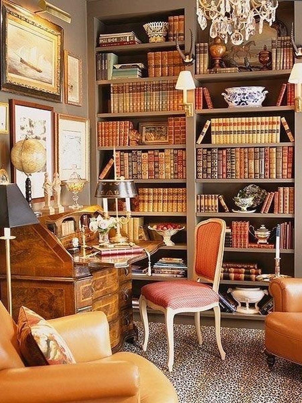 40 Inspiring Vintage Home Library Ideas To Maximize Your Living