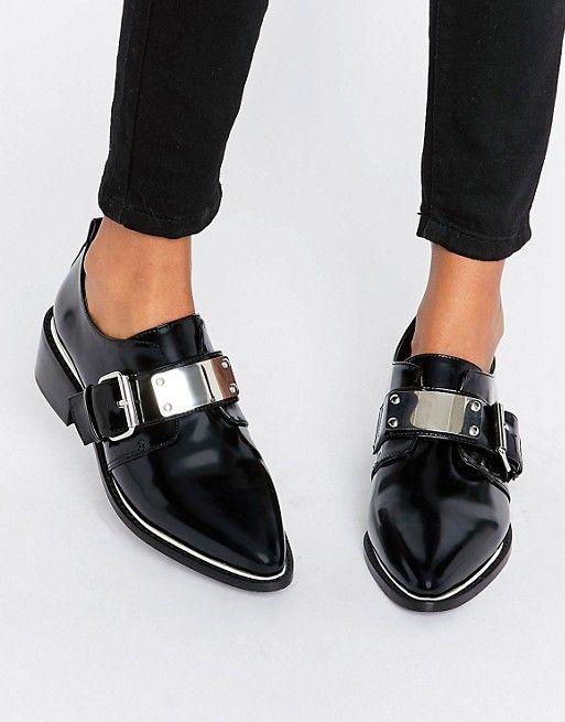 buy discount ASOS MOCHA Pointed Flat Shoes womens Black ASOS Womens Flat shoes