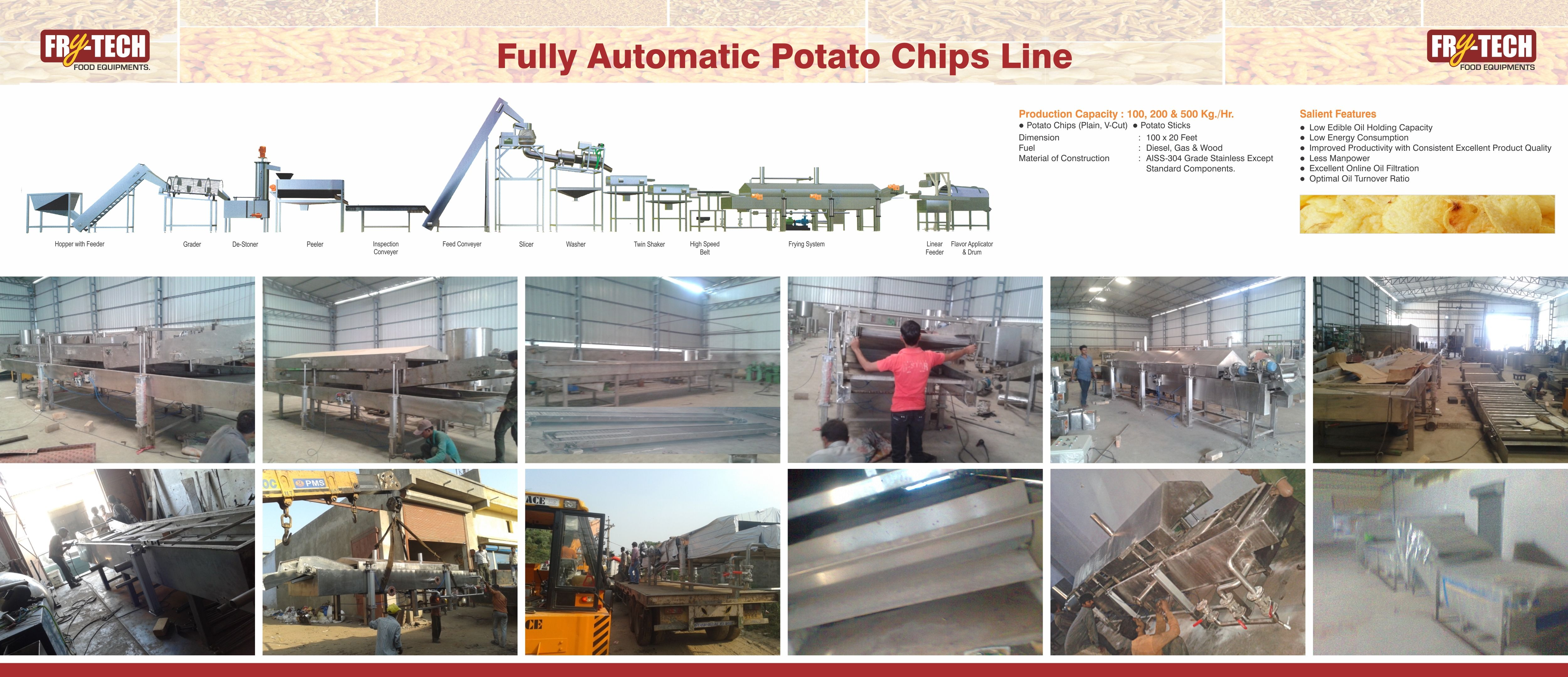Http Www Frytechfoodequipment Com Products Html Food Equipment Potato Chips Product Offering