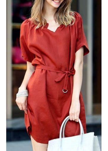 Alluring Short Sleeve Square Neck Mini Dress for Woman  on sale only US$11.00 now, buy cheap Alluring Short Sleeve Square Neck Mini Dress for Woman  at martofchina.com