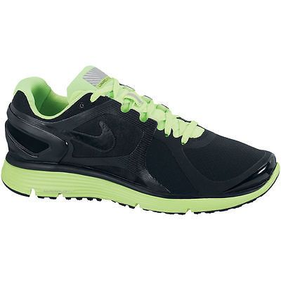 competitive price a6ebd dfba4 Nike LunarEclipse+ 2 Shield Mens 537918-003 Black Green Running Shoes Size  8.5