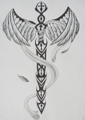 phoenix with tail wrapped around sword tattoo. Black Bedroom Furniture Sets. Home Design Ideas