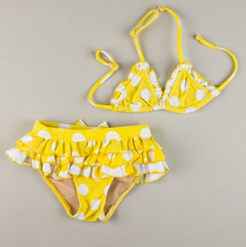 Itsy bitsy tiny winnie yellow polka dot bikini