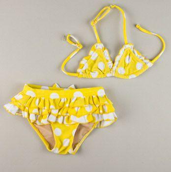 It Was An Itsy Bitsy Yellow Polka Dot Bikini