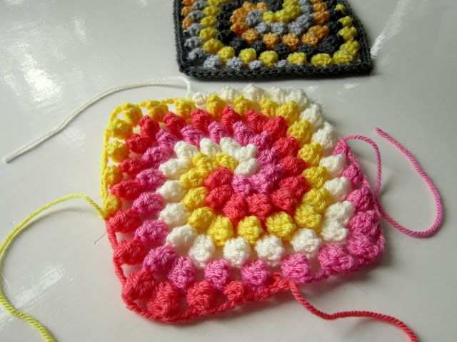 colour in a simple life: Granny Bobble Spiral | Tejido | Pinterest ...