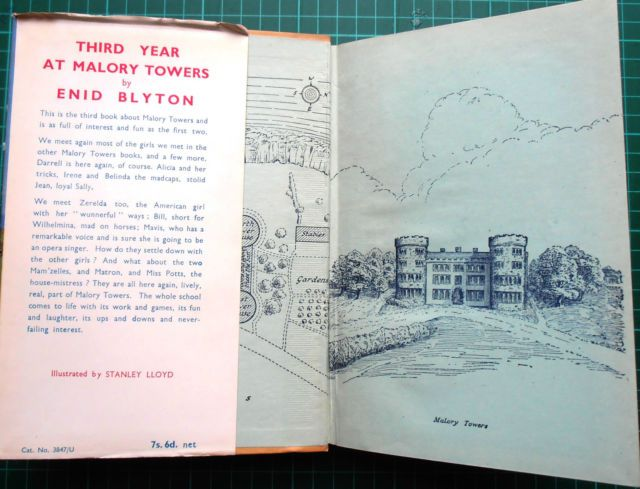 """Illustration by Stanley Lloyd - from """"Third Year at Malory Towers"""" 1953"""
