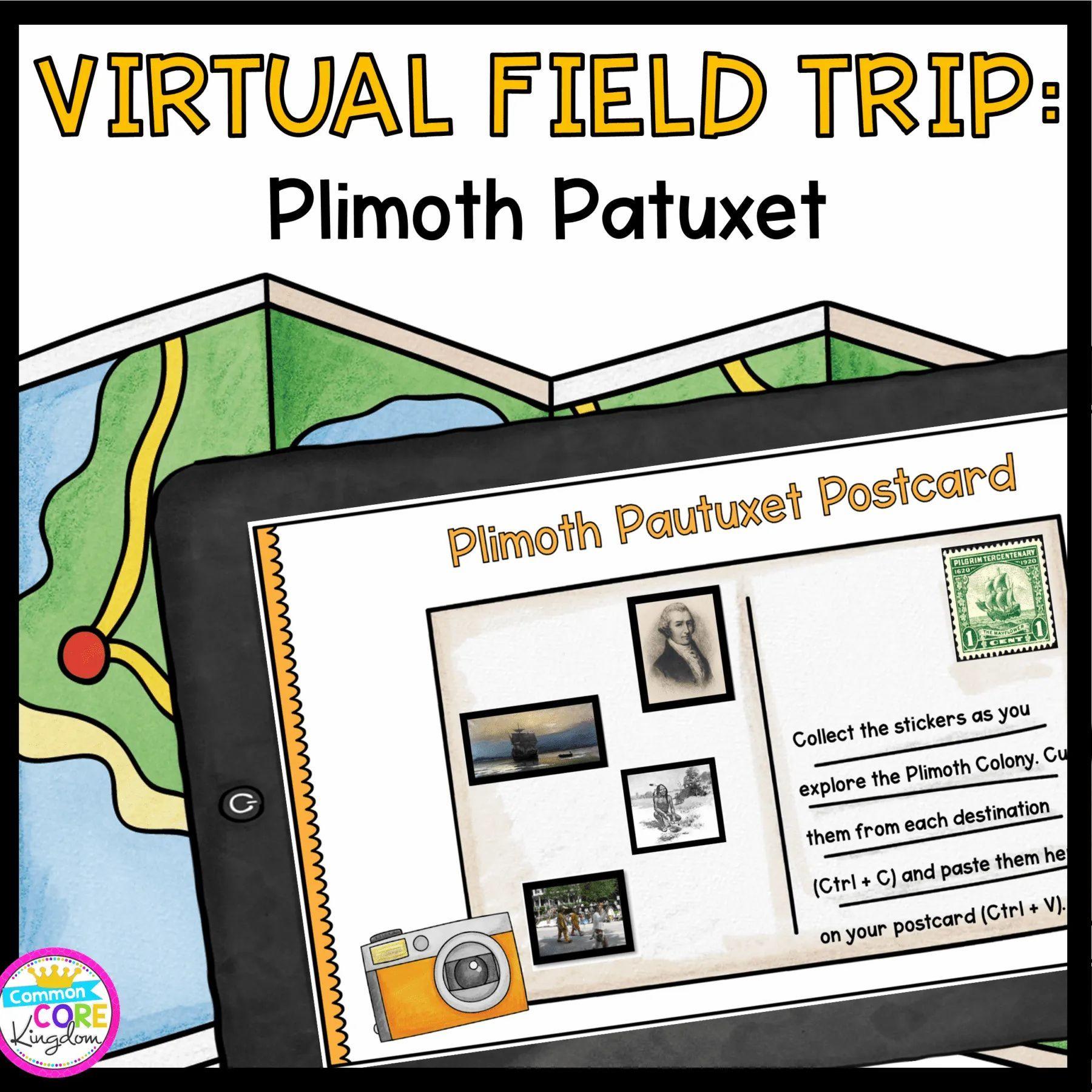 Virtual Field Trip To Plimoth Patuxet Google Seesaw Distance Learning Virtual Field Trips Field Trip Reading Passages [ 1800 x 1800 Pixel ]