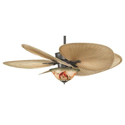 Fanimation islander bronze accent 52 inch ceiling fan with oval palm islander bronze accent 52 inch ceiling fan with oval palm blades and parrot glass light kit aloadofball Choice Image