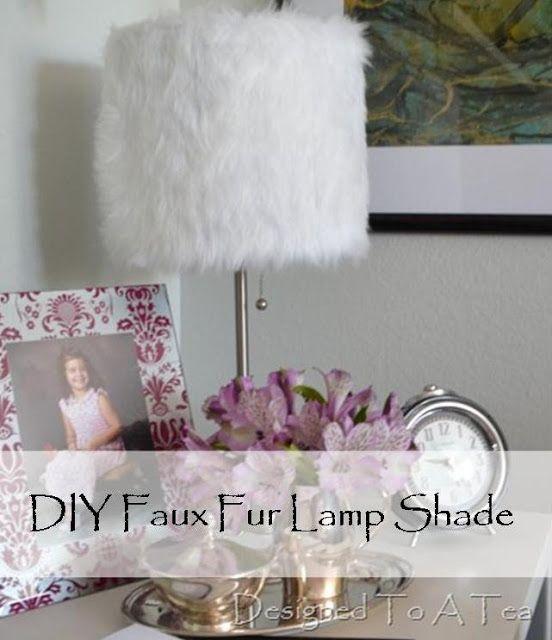 Diy faux fur lamp shade designed to a tea house pinterest diy faux fur lamp shade designed to a tea aloadofball Choice Image
