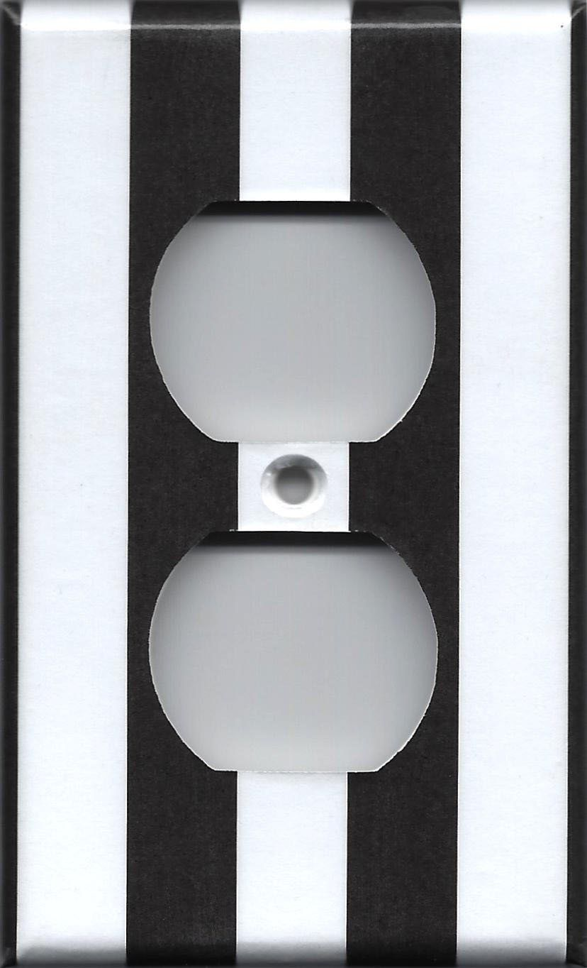 Black Wall Socket Covers Custom Black And White Stripes Light Switch Plates And Wall Outlet Covers Review