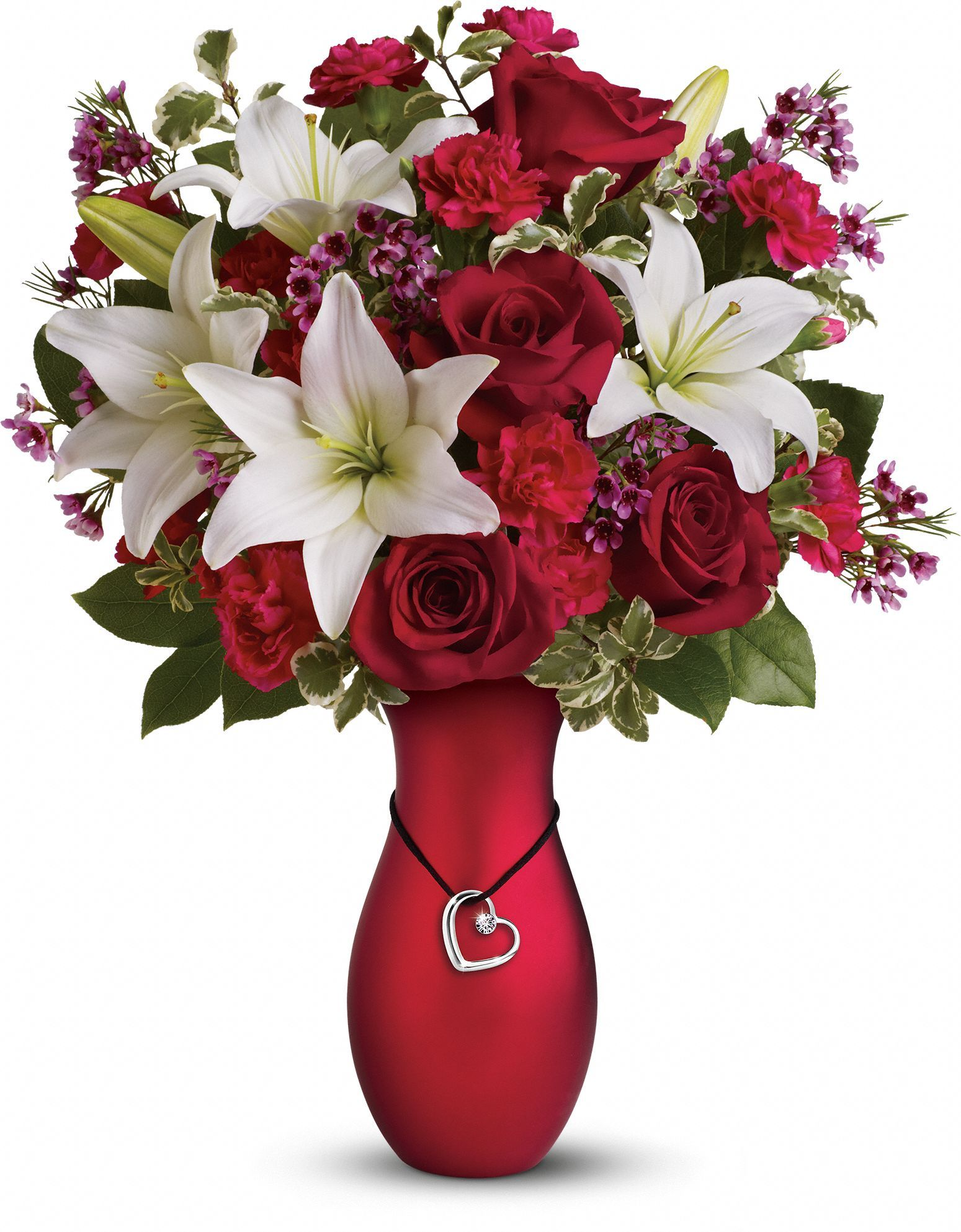 Heartstrings Bouquet by Teleflora Valentines flowers