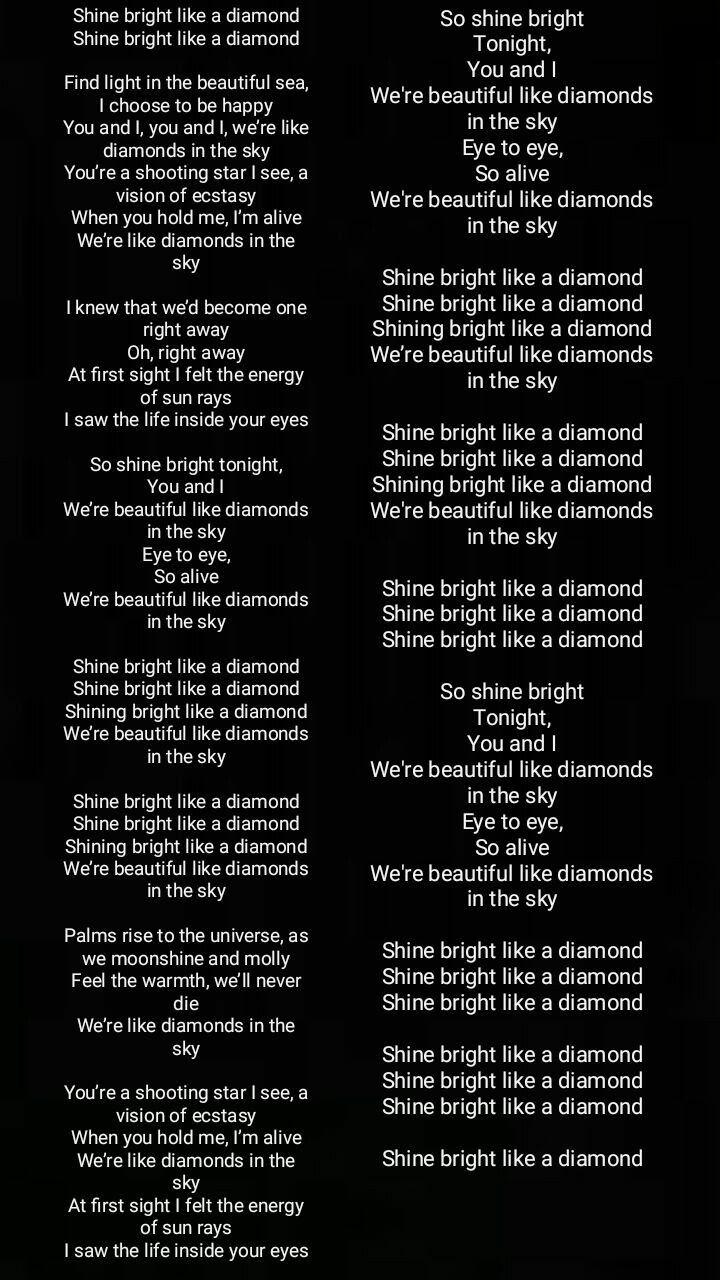 Diamonds Lyrics Song Lyrics Diamonds Lyrics Lyrics