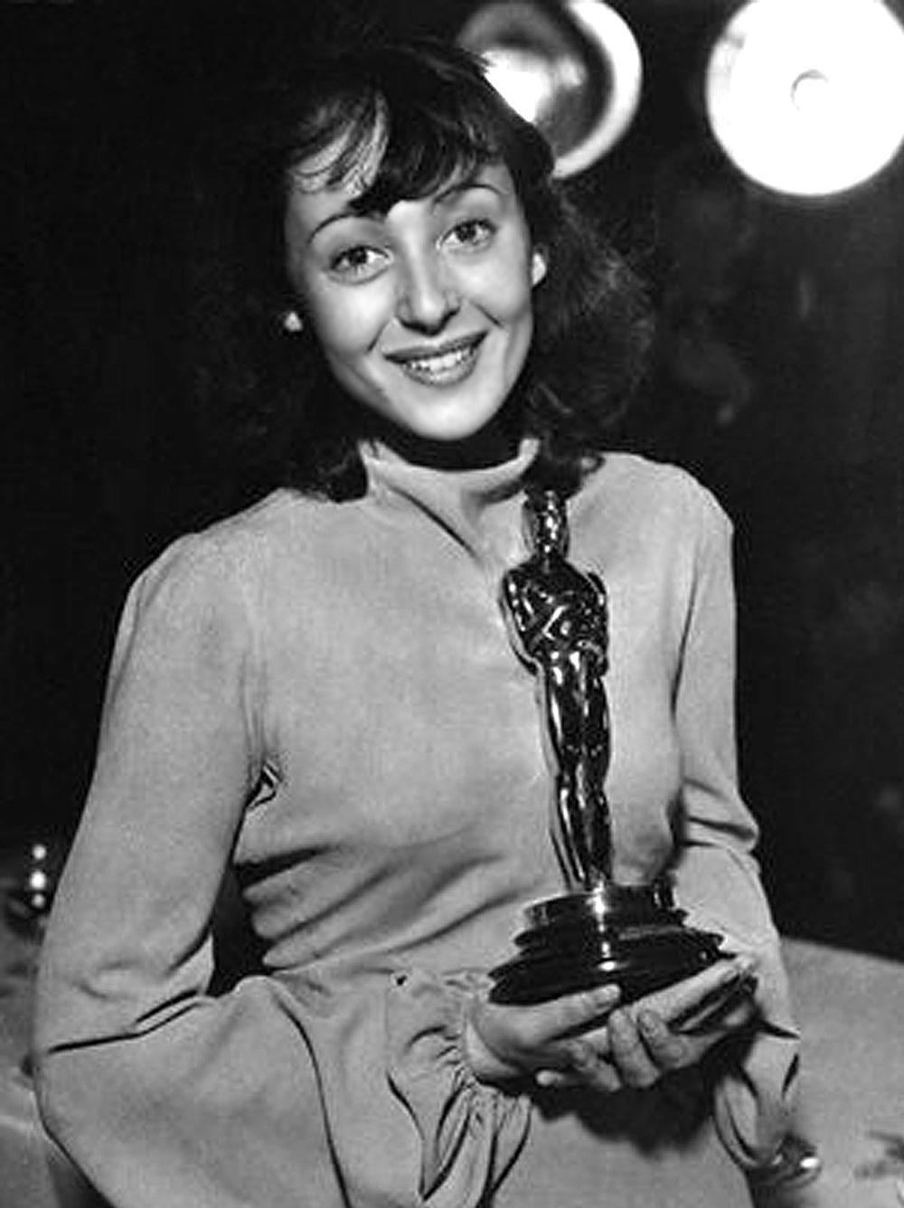 "Luise Rainer Best Actress Oscar for ""The Great Ziegfeld"