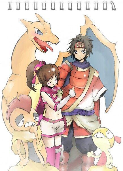 yukimurakunoichi with charizardscraggy pokemon