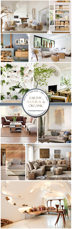 Earthy Natural Organic Living Room Earthy Living Room Decor